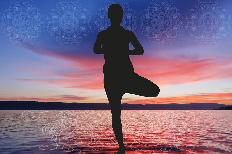 meditácia, silueta