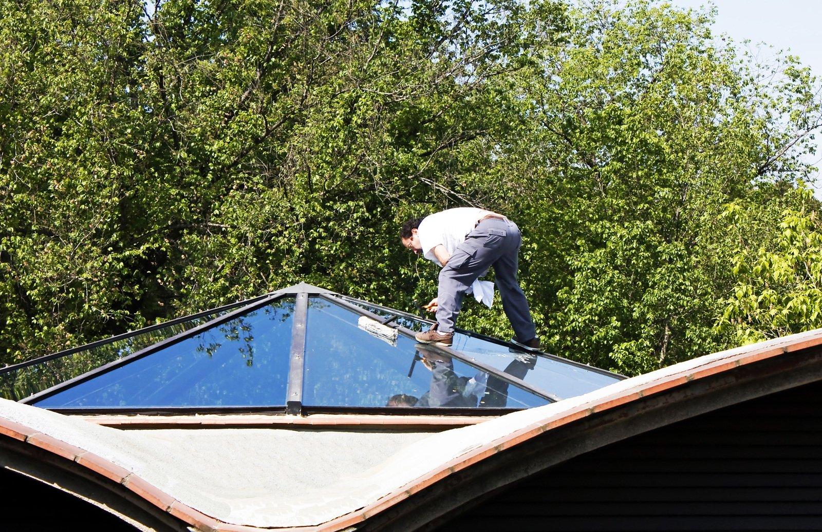 strecha, údržba okien